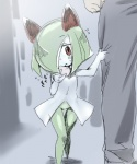 anthro blush digital_media_(artwork) eating female green_hair hair human humanoid japanese_text kirlia mammal mizo_ne navel nintendo open_mouth pokémon red_eyes sketch text video_games young   Rating: Safe  Score: 7  User: DeltaFlame  Date: October 12, 2014