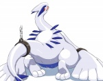 bdsm blush bondage bound chain female hi_res hindpaw legendary_pokémon looking_at_viewer looking_back lugia nintendo paws pokémon pussy pussy_juice solo sweat vectorized video_games wkar   Rating: Explicit  Score: 15  User: LegenDary  Date: January 02, 2013