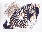 2002 absurd_res angel anthro breasts equine female halo hi_res looking_at_viewer mammal michele_light nude pinup solo zebra   Rating: Questionable  Score: 9  User: borgiaborgia  Date: January 27, 2014