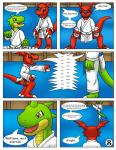 anthro comic digimon dojo dragon guilmon karate reptile scalie text  Rating: Safe Score: 1 User: hector21314 Date: May 04, 2015""