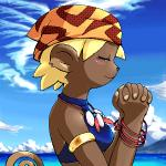 anthro beach blush brown_fur clothed clothing female fur g-sun hair jewelry low_res mammal monkey praying primate sea seaside solo water  Rating: Safe Score: 2 User: Well001 Date: October 04, 2015