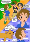 black_hair brown_hair clothed clothing comic digimon english_text group hair human kazu_shioda kenta_kitagawa male mammal not_furry outside prophet takato_matsuki text young  Rating: Safe Score: 2 User: Granberia Date: June 11, 2015""