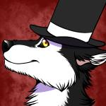 anthro black_fur black_nose black_sclera canine dapper dog fur hat husky looking_at_viewer male mammal ratte smile solo thehuskyk9 top_hat white_fur yellow_eyes   Rating: Safe  Score: 14  User: TheHuskyK9  Date: August 19, 2014