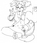 anthro blush bottomless canine claws clitoris clothed clothing digitigrade dog eyelashes female fingering fur hair half-dressed hindpaw kigouneko mammal masturbation monochrome pajamas paws pussy solo v_sign   Rating: Explicit  Score: 2  User: rezzu  Date: April 21, 2015