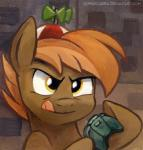 2014 beanie brown_hair button_mash_(mlp) controller earth_pony equine friendship_is_magic hair hat holding holding_controller horse kenket male mammal my_little_pony pony portrait propeller_hat solo sophiecabra tongue tongue_out two_tone_hair yellow_eyes   Rating: Safe  Score: 10  User: 2DUK  Date: June 29, 2014