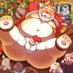 2016 anthro balls belly black_nose blush bound canid canine canis christmas clothing cute_fangs dragon erection eyes_closed female group holidays humanoid_hands humanoid_penis lako male mammal moobs navel nipples overweight overweight_male penis shirt shorts ursid wolf youngRating: ExplicitScore: -3User: mapachitoDate: February 20, 2019