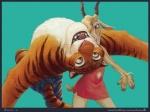 2016 antelope anthro arched_back black_background black_fur blonde_hair border bracelet brown_eyes brown_fur clothed clothing dancing digital_media_(artwork) disney dress duo feline female fur furgonomics gazelle gazelle_(zootopia) glitter green_eyes hair horn inner_ear_fluff jewelry kamui_(artist) makeup male mammal multicolored_fur open_mouth open_smile orange_fur pink_nose signature simple_background smile striped_fur stripes stripper_tiger_(zootopia) tail_clothing teal_background teeth tiger topless two_tone_fur url whiskers white_fur zootopia zootopia_shorts  Rating: Safe Score: 10 User: LucasMotaRony Date: July 26, 2016