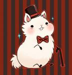 blush bow_tie camelid cane feral fur hat huiro llama llamama male mammal solo top_hat white_fur  Rating: Safe Score: 7 User: slyroon Date: September 15, 2014