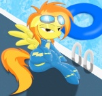 2012 butt equine eyewear female feral friendship_is_magic goggles hair looking_at_viewer mammal multicolored_hair my_little_pony pegasus pool pose skinsuit solo spitfire_(mlp) spitshy teasing tongue wings wonderbolts_(mlp)   Rating: Questionable  Score: 14  User: gaunt0  Date: March 04, 2012