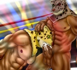 abs anthro armor_king balls biceps big_muscles big_penis blush bound cum cum_in_mouth cum_inside cum_on_penis cumshot duo erection eurobeat fangs feline fellatio fur green_eyes heterochromia human humanoid_penis king_(tekken) leaking leopard male male/male mammal mask muscles nipples nude oral orgasm pecs penis pink_nose pose pubes red_eyes rope scar sex smile sucking sweat teeth tekken thick_penis toned vein veiny_penis whiskers yellow_eyes  Rating: Explicit Score: 5 User: unforget Date: August 07, 2012""