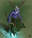 antlers druid elf glowing_eyes hair horn kilt magic_user male neon_(artist) night_elf plain_background polearm purple_skin staff tribal_spellcaster video_games warcraft white_hair world_of_warcraft   Rating: Safe  Score: 2  User: Tarmax  Date: November 15, 2012