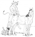anal anal_penetration animal_genitalia anthro anthro_on_feral bestiality bovine cattle duo equine erection feral from_behind furronika hooves horse horsecock interspecies male male/male mammal minotaur nude penetration penis sex   Rating: Explicit  Score: 21  User: Vinea  Date: May 20, 2014