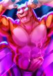 abs anthro armpit_hair armpits biceps big_muscles black_nose brown_fur clothed clothing cum cum_on_chest cum_on_penis cum_on_self cum_on_stomach disney erection feline flexing fur hi_res humanoid_penis looking_at_viewer male mammal muscular nviek5 open_mouth orange_fur pecs penis shorts solo standing stripes stripper_tiger_(zootopia) teeth tongue tongue_out topless whiskers white_fur zootopia  Rating: Explicit Score: 15 User: Optisiast Date: January 23, 2016