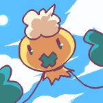 ambiguous_gender angry cloud digital_media_(artwork) drifloon front_view looking_at_viewer low_res nintendo oekaki pokémon reaching shiny_pokémon sky solo video_games yellow_body zaikudo