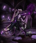 2014 anthro azsola bone candle casting clothing darkness dragon drake fire hair magic magic_user male necromancer polearm purple_theme reptile scalie shadow snake solo spell staff tentacles weapon white_hair   Rating: Safe  Score: 16  User: denalwolf  Date: November 03, 2014