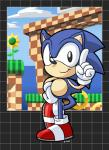 2011 anthro black_nose cloud gloves hedgehog looking_at_viewer male mammal rongs1234 sega shaded signature sky smile solo sonic_(series) sonic_the_hedgehog   Rating: Safe  Score: 2  User: Jatix  Date: April 12, 2014