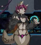 bikini canine clothed clothing collar f4814n female mammal midriff navel panties shirt shirt_lift skimpy solo space sweater swimsuit underwear valeria wolf   Rating: Questionable  Score: 43  User: Jagger_My_Dagger  Date: February 28, 2015