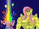 2013 abs anthro anthrofied blue_background crossgender death duo equine fist_of_the_north_star fluttershy_(mlp) friendship_is_magic hair horse human humanized kenshiro male mammal muscles my_little_pony parody pink_body pink_hair pinkie_pie_(mlp) plain_background pony rainbow wings yellow_body zap_apple_acid_trip   Rating: Safe  Score: 3  User: Kholchev  Date: May 28, 2013