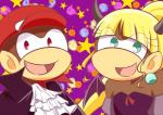 blonde_hair diddy_kong dixie_kong donkey_kong_(series) duo female hair halloween hat holidays horn jewelry male mammal monkey nintendo primate suit unknown_artist video_games  Rating: Safe Score: 0 User: Cαnε751 Date: October 31, 2015