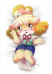 animal_crossing anthro black_nose blonde_hair canine clothing dog dress female fur hair hair_ornament isabelle_(animal_crossing) lying mammal nintendo on_back short_hair solo uniform unknown_artist video_games white_fur yellow_fur  Rating: Safe Score: 5 User: Cαnε751 Date: November 09, 2015