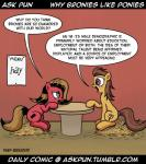 ask_pun comic commentary cutie_mark dialogue duo equine female feral friendship_is_magic horse humor impending_butthurt joke mammal marigold my_little_pony pony pony-berserker pun_pony text tumblr   Rating: Safe  Score: 8  User: securitywyrm  Date: September 16, 2013