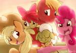 2013 apple_bloom_(mlp) applejack_(mlp) big_macintosh_(mlp) blonde_hair bow cowboy_hat equine female freckles friendship_is_magic fur granny_smith_(mlp) green_fur group hair hat horse iamtehpilot male mammal my_little_pony open_mouth orange_fur pink_fur pink_hair pinkie_pie_(mlp) pony red_fur red_hair spoilers white_hair yellow_fur   Rating: Safe  Score: 8  User: anthroking  Date: January 09, 2014
