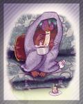 2014 aqua_hair barefoot blanket breasts cainethelongshot chopsticks clothing cooking_pot digital_media_(artwork) eating female food fur hair hot_drink kitsunebi koroku laziness lazy long_hair looking_at_viewer mammal markings mustelid noodles nude panties pillow ramen red_fur rei shindorei sitting sofa solo soup tea_cup underwear   Rating: Questionable  Score: 1  User: CaineTheLongshot  Date: February 02, 2014