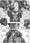 2015 abs anthro antlers balls biceps big_muscles bovine cattle cervine clothing comic cum cumshot dialogue english_text erection fur horn humanoid_penis male male/male mammal masturbation monochrome muscular nipples nude open_mouth orgasm pants pecs penis reindeer rov sex shower simple_background text thigh_sex toned vein water wet  Rating: Explicit Score: 10 User: slyroon Date: October 04, 2015