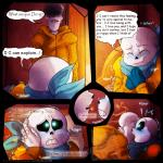 bed blue_eyes blush bone comic dialogue eyes_closed incest kissing lizheru_(artist) male male/male papyrus_(undertale) sans_(undertale) sitting skeleton tears text undertale video_games  Rating: Questionable Score: 6 User: WholeLottaLovin Date: April 22, 2016
