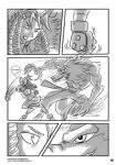 attack bow canine comic curly_hair dialog drill_hair female greyscale grin human locofuria male mammal monochrome plain_background stare text topless white_background   Rating: Safe  Score: 0  User: Buscami  Date: March 08, 2014
