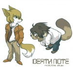 """anthro canine cute death_note duo fox killer kira l_lawliet male mammal plain_background unknown_artist what white_background yagami_light  Rating: Safe Score: 2 User: T7 Date: August 17, 2009"""""""