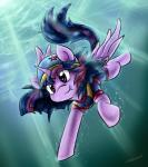 2014 clothed clothing equine female feral friendship_is_magic fur hair hat horn horse mammal my_little_pony pony purple_eyes purple_fur purple_hair solo swimming swimsuit tailzkip twilight_sparkle_(mlp) underwater water winged_unicorn wings   Rating: Safe  Score: 7  User: GameManiac  Date: February 23, 2015