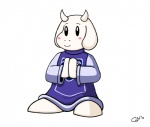 ambiguous_gender anthro blush caprine clothing colored crossover fur goat gorgo_neon kirby kirby_(series) looking_away mammal monster nintendo robe simple_background smile solo standing toriel undertale video_games white_background white_fur  Rating: Safe Score: 3 User: twins Date: October 13, 2015