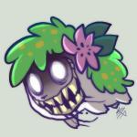 ambiguous_gender creepy flower nightmare_fuel nintendo plain_background plant pokémon shaymin solo teeth vaporotem video_games white_eyes   Rating: Safe  Score: 3  User: DeltaFlame  Date: February 24, 2015
