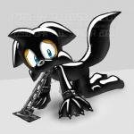 """anthro bdsm blue_eyes bodysuit bondage bound canine chain claws clothing fox male mammal miles_prower paws skinsuit solo sonic_(series)  Rating: Questionable Score: 1 User: ranksgiving Date: October 20, 2012"""""""
