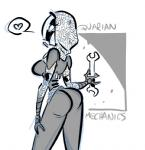 alien butt female mass_effect quarian   Rating: Questionable  Score: 1  User: kiwimans1  Date: January 05, 2014