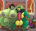 anthro arbitrary_lactation balls belly big_balls big_belly big_breasts big_muscles breasts chair claws collar duo erection eye_contact female foreplay hand_on_penis huge_balls huge_breasts hyper hyper_breasts imminent_sex king_atty_(gunslingeratticus) koopa lactating lips male male/female mario_bros milk musclegut muscular muscular_male nintendo nipples nude obese overweight overweight_female overweight_male pecs penis precum pubes queen_betty_(vdisco) romantic_couple scalie sitting thick_bottom_lip thick_thighs throne vdisco vein veiny_penis video_games wide_hips  Rating: Explicit Score: 8 User: ErosThanatos2 Date: April 24, 2016