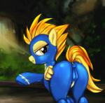 2015 absurd_res butt camel_toe clothing darkstylerz equine feathered_wings feathers female feral flight_suit friendship_is_magic grin hair half-closed_eyes hi_res mammal my_little_pony outside pegasus skinsuit solo spitfire_(mlp) tight_clothing wings wonderbolts_(mlp) yellow_eyes yellow_feathers  Rating: Explicit Score: 40 User: lemongrab Date: December 19, 2015
