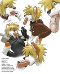 <3 anthro black_nose blonde_hair blue_eyes canine cigarette clothing cloud_strife cock_tongue condom cosplay costume coy_(character) cum cum_drip cum_on_chin cum_on_face cum_on_lips cum_on_penis cum_on_tongue digital_media_(artwork) dripping english_text erection fox fur gideon green_eyes growth hair half-closed_eyes half-erect humanoid_penis looking_down male mammal melee_weapon multicolored_body orange_fur pawpads paws penis penis_growth profile shirt short_hair simple_background smoking solo spiky_hair sword text tongue tongue_out weapon wearing_condom white_background white_fur  Rating: Explicit Score: 9 User: msc Date: June 08, 2007