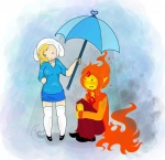 adventure_time animegirl-luna blush clothed clothing cute elemental embarrassed female fionna_the_human fire flame_prince human male prince protection rain royalty sharp_teeth teeth umbrella   Rating: Safe  Score: 10  User: Sods  Date: June 17, 2013