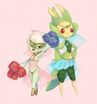 arthropod circlet duo female flora_fauna flower harem humanoid insect jewelry joltik_(artist) leavanny mantis nintendo plant pokémon rose roserade simple_background video_games   Rating: Questionable  Score: 2  User: Juni221  Date: July 11, 2013
