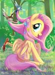 2014 adlynh avian bird blue_eyes bush cutie_mark equine feathered_wings feathers female feral flower fluttershy_(mlp) forest friendship_is_magic fur grass hair mammal my_little_pony outside pegasus pink_hair plant smile solo tree wings yellow_feathers yellow_fur  Rating: Safe Score: 6 User: ConsciousDonkey Date: January 30, 2016