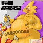 alphys belly big_belly dinosaur female nipples overweight professordoctorc undertale video_games