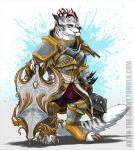 anthro armor blackchaos666 charr claws fangs feline female flat_chested fluffy fluffy_tail fur guild_wars hi_res horn mace mammal mane melee_weapon multi_ear plate_armor red_eyes shield simple_background solo video_games weapon white_furRating: SafeScore: 2User: rednikzelongDate: July 21, 2017