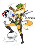 anthro bomb boots breasts canine clothing explosives eyewear female footwear fox glasses green_eyes hat lt._fox_vixen mammal panties rodent sek_studios solo squirrel squirrel_and_hedgehog stars_and_stripes underwear united_states_of_america unknown_artist weapon