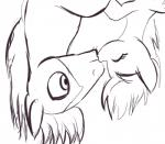 2015 black_and_white derpy_hooves_(mlp) duo earth_pony equine eyes_closed female friendship_is_magic hair horse kissing male mammal monochrome my_little_pony pegasus pony raikoh-illust romantic_couple troubleshoes_(mlp) upside_down wings  Rating: Safe Score: 4 User: slyroon Date: November 19, 2015