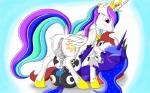 crossgender dickgirl equine fan_character female friendship_is_magic group herm horn horse intersex lolmaster mammal my_little_pony pony princess_celestia_(mlp) princess_luna_(mlp) pussy winged_unicorn wings  Rating: Explicit Score: 4 User: Navanastra Date: March 08, 2014