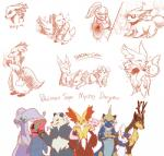 accelgor canine cervine deerling delphox espurr fennekin fox goodra group legendary_pokémon mammal meowstic mew nintendo nuzleaf oshawott pangoro pokémon pokémon_mystery_dungeon samurott sawsbuck semi-anthro shadow-chu simple_background spring_sawsbuck video_games white_background