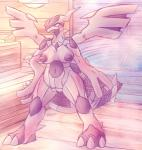 anthro anthrofied areola barefoot big_nipples blush breasts claws dragon female hi_res legendary_pokémon looking_at_viewer navel nintendo nipples nude patohoro pokémon pokémorph pussy scalie smile solo standing sweat toe_claws video_games wings zekrom  Rating: Explicit Score: 16 User: Tuck_In_Those_Glutes Date: April 01, 2015