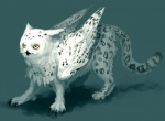 avian beak claws eeeeeat feline feral hybrid leopard owl snow_leopard snowy_owl solo wings   Rating: Safe  Score: 1  User: msc  Date: March 19, 2009